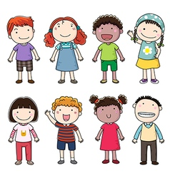 Collection of happy children vector image