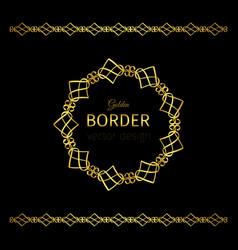 golden border and mandala frame vector image vector image