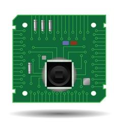 green circuit board vector image