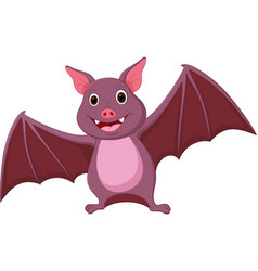 happy bat cartoon vector image vector image