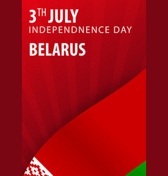 independence day of belarus flag and patriotic vector image