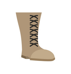 military boots beige isolated army shoes on white vector image vector image