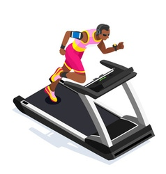 Treadmill Gym Class Working Out 3D Flat Image vector image