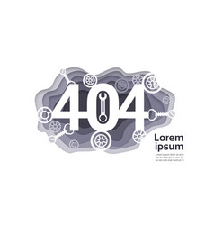 404 not found problem internet connection error vector image