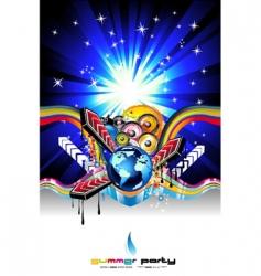 discotheque Dj event flyer vector image vector image