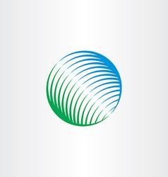 green blue globe natural circle logo icon vector image vector image