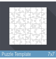 Puzzle Template 7x7 vector image vector image
