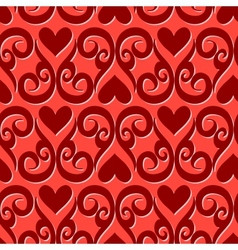 Seamless ornament love pattern vector image