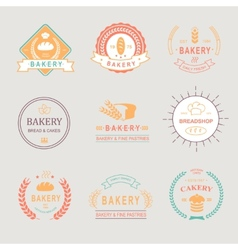 Vintage Retro Bakery BadgesLabels logos Bread vector image vector image