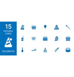 15 celebrate icons vector