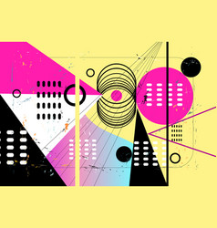 abstract background with different vector image