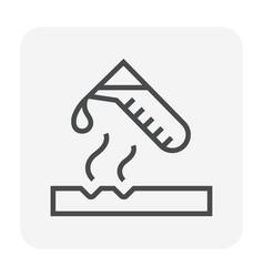 Acid chemical icon vector