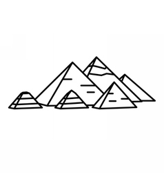 Ancient Egyptian pyramids vector