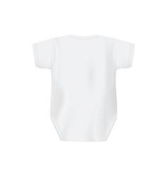 Back view white newborn baby shirt mockup vector
