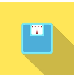 Bathroom scale icon with long shadow vector image