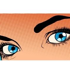 Beautiful girl eye raster effect halfton vector