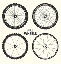 Bicycle wheel symbol bike vector