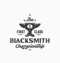 Blacksmith championship abstract vintage vector