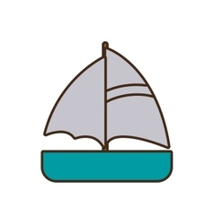 Cartoon ship travel maritime vector