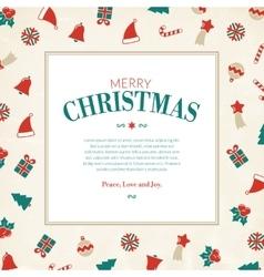 Christmas symbols greeting card xmas pictograms vector