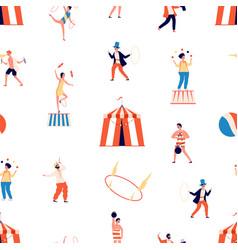 Circus seamless pattern freak show vector