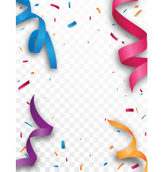 Colorful celebration background with confetti vector
