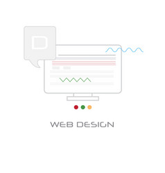 computer screen web design development concept vector image
