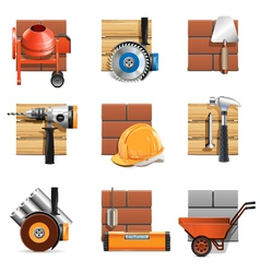 Construction work icons vector