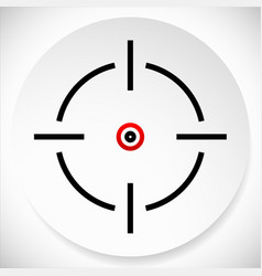 Cross-hair reticle graphics on circle shape vector