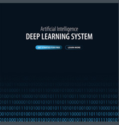 Deep learning system banner for social media vector