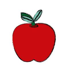 Delicious apple fruit vector
