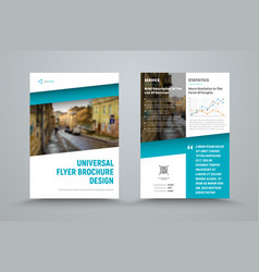 design of the universal brochure with the vector image