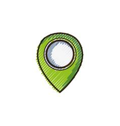 Doodle location symbol to destination travel vector