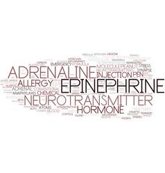 Epinephrine word cloud concept vector