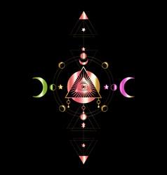 Eye providence masonic symbol all seeing eye vector