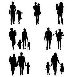 Families at walking vector