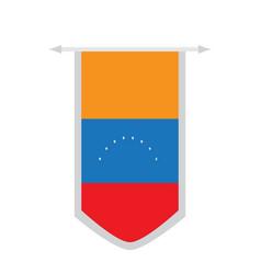 flag of venezuela on a banner vector image