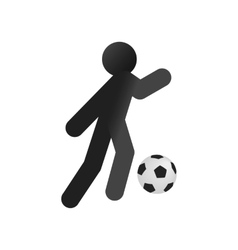 Football soccer isometric 3d icon vector image