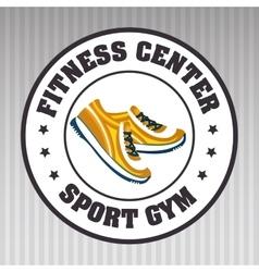 footwear sport gym vector image