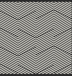 geometric lines pattern black and white stripes vector image