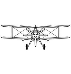 Gloster gladiator front vector