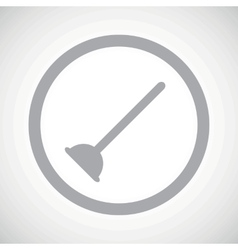 Grey plunger sign icon vector