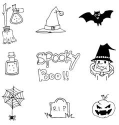 Halloween hand draw doodle vector