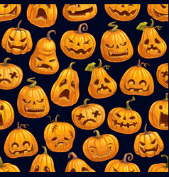 Halloween holiday pumpkin seamless pattern vector