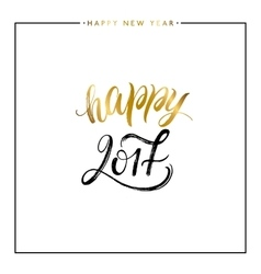 happy new year gold text isolated vector image