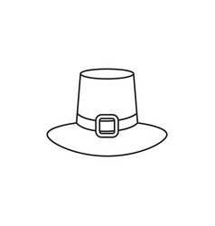 hat icon of thanksgiving of the day vector image