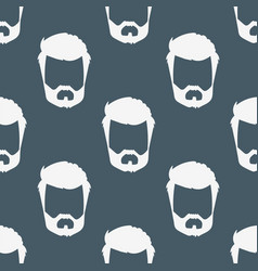 Hipster retro hair style seamless pattern vector