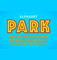 Hot summer display font design alphabet letters vector