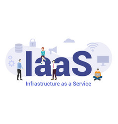 Iaas infrastructure as a service technology vector