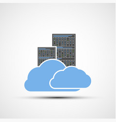 Icon cloud computing server for datacenter vector